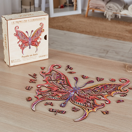 Puzzle Papillon Illusionniste