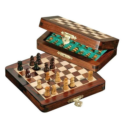 Jeux d'échecs magnétique pliable 17cm