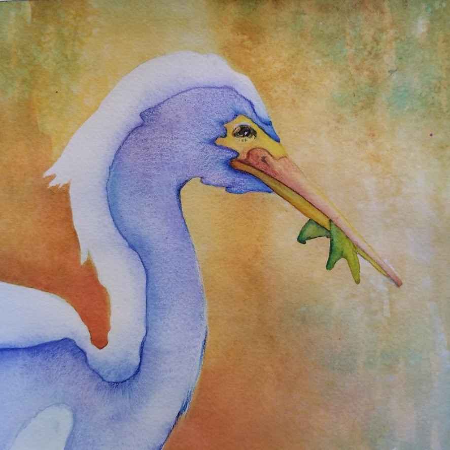 """Lunch - Watercolor and pencil~ 8"""" x 8"""" ~ 50.00"""