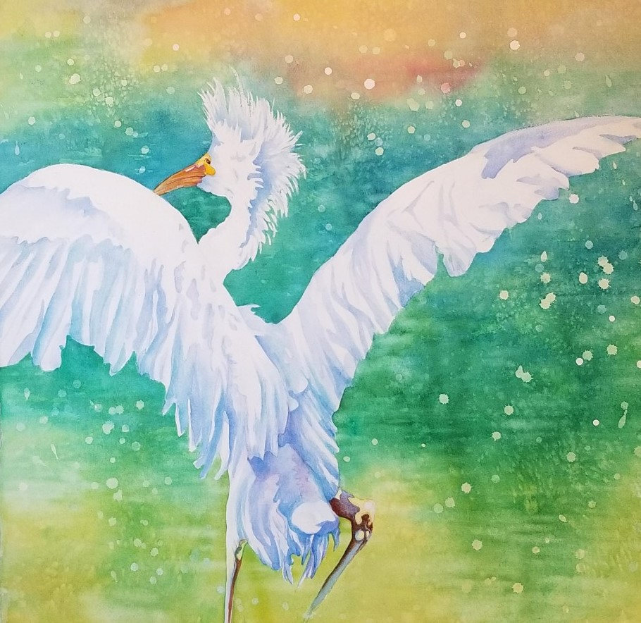 """Wings Up ~Watercolor ~ 22"""" x 20""""  ~475.00"""
