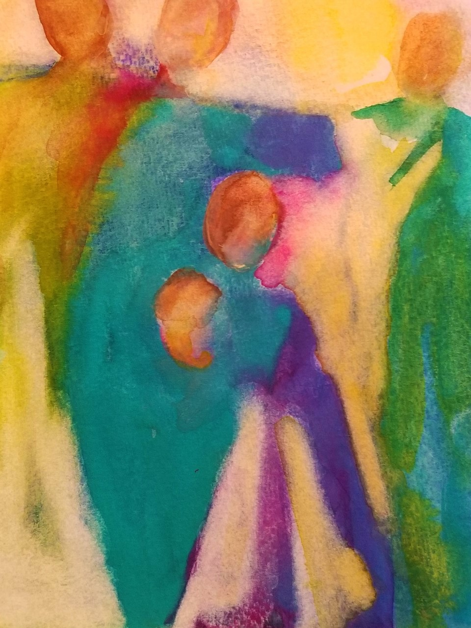 """Family ~ Watercolor 8"""" x 8"""" ~ 50.00"""