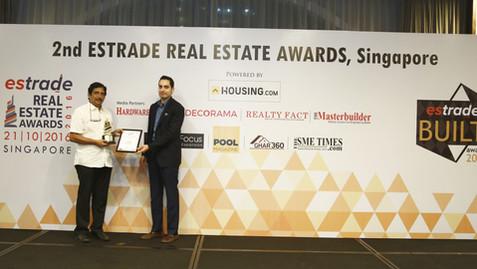Estrade Lifetime Achievement Award for Benny Kuriakose in 2016