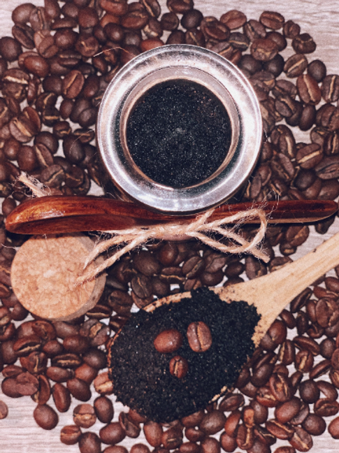 Repurposed coffee scrub