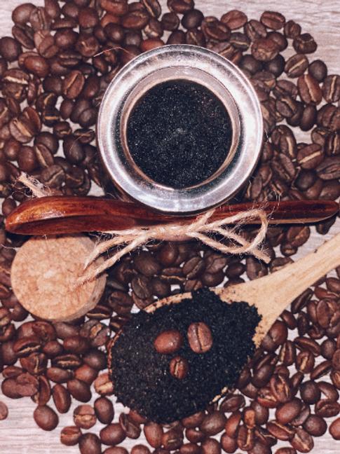 Repurposed coffee scrub