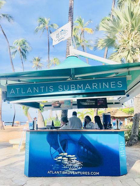 Atlantis submarines booth