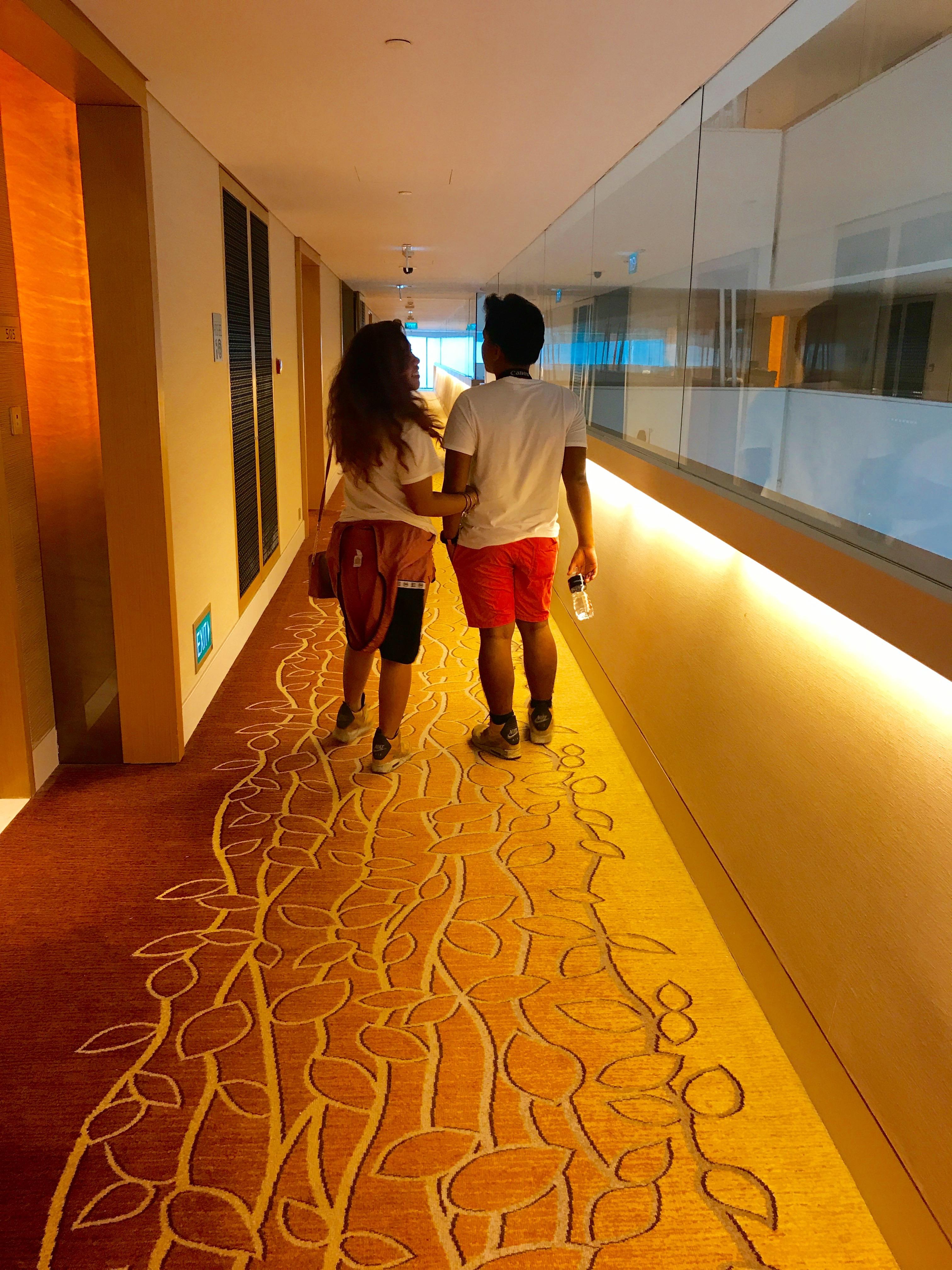Lavish Marina bay hall way