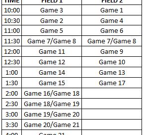 UPDATED 2017 OCWA Playoffs Bracket and Schedule