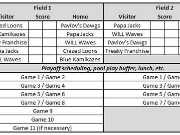 12th Annual Opening Day Tournament Schedule and Info