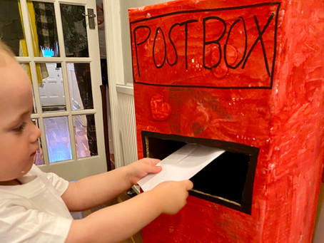 Activities for Toddlers at Home: Build a Postbox