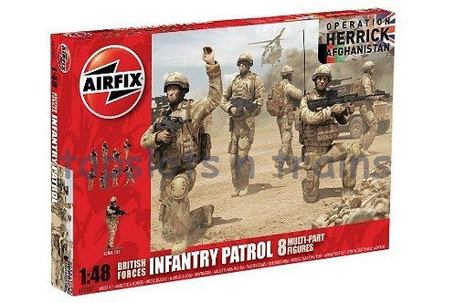 British forces infantry patrol