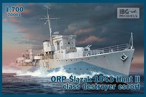 ORP slazak 1943 hunt II clas destroyer escort