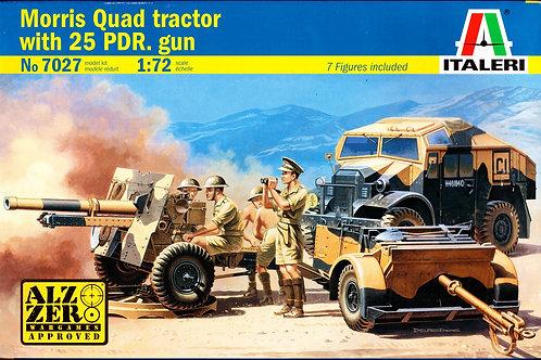 Morris quad tractor w/ 25pdr. gun