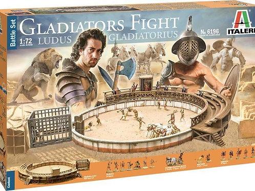 Gladiators fight ludus