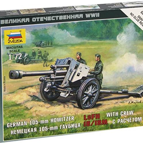 German 105mm Howitzer with crew