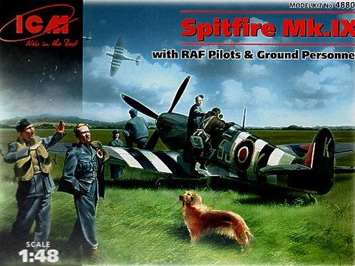 Spitfire MK IX with Raf pilots & ground personnel