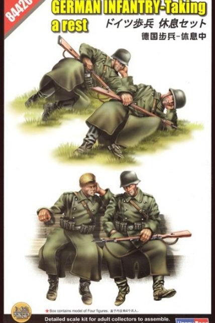 German infantry taking a rest