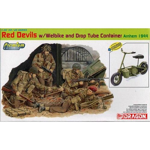 Red Devils W/Welbike and drop tube container