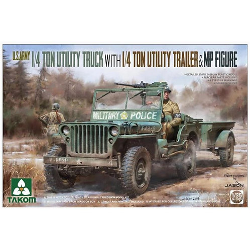 1/4t utility truck with trailer & mp figure