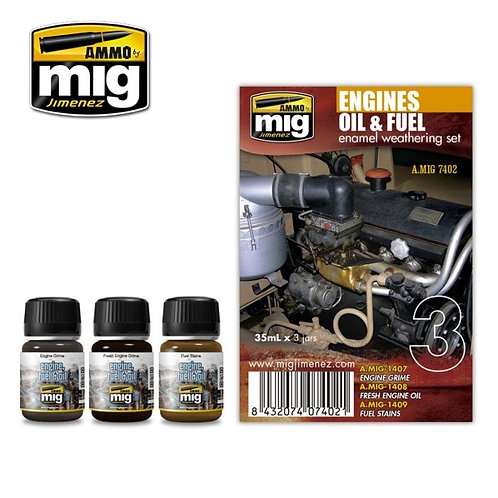 Engines oil & fuel set