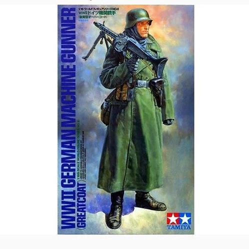 WWII German machine gunner