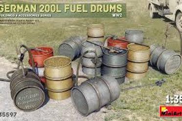German 200L fuel drums ww2