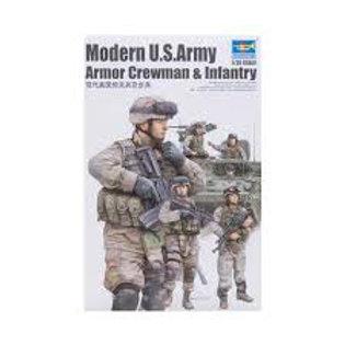 Modern U.S army armor crewman & infantry