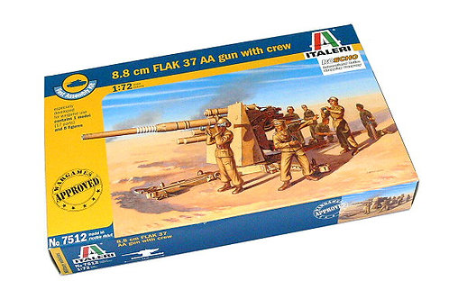 8.8cm FLAK 37 AA gun with crew