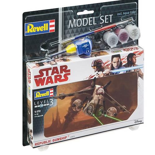 Star wars republic gunship model set