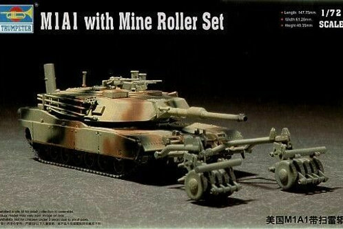 M1A1 with mine roller set