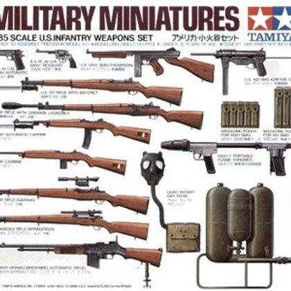 U.S infantry weapons set