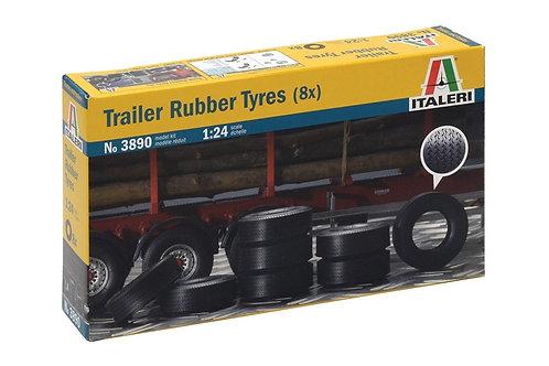 Trailer rubber tyres (8)