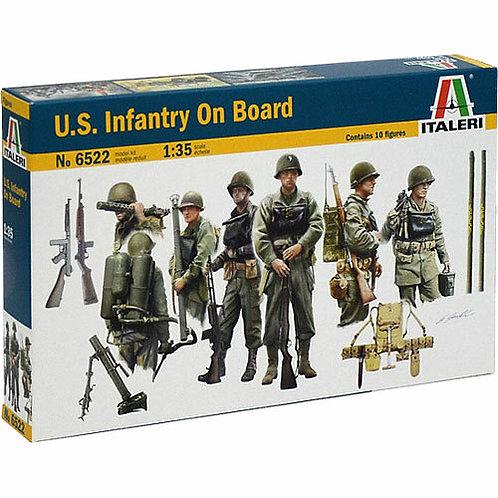 U.S. infantry on board