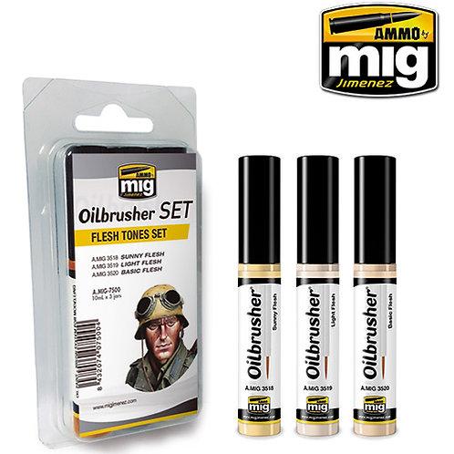 Oilbrusher flesh tones set