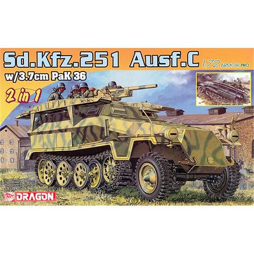 Sd. Kfz. 251 Ausf.C w/3.7cm pak 36 (2 in 1)