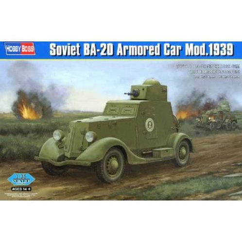 Soviet BA-20 armore car mod. 1939
