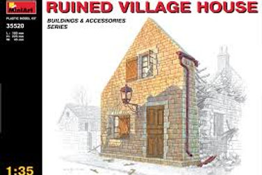 Ruined village house