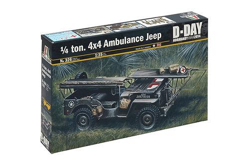 1/4 ton 4x4 ambulance jeep D-day
