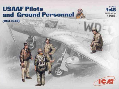 USAAF pilots and ground personnel