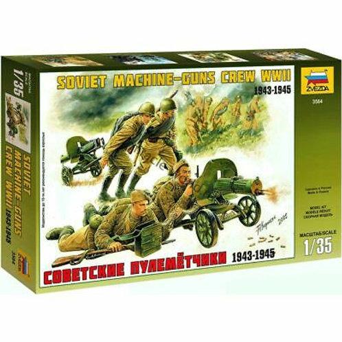 Soviet machine-gun crew ww2