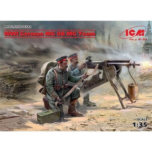 WWI German MG 08 MG team