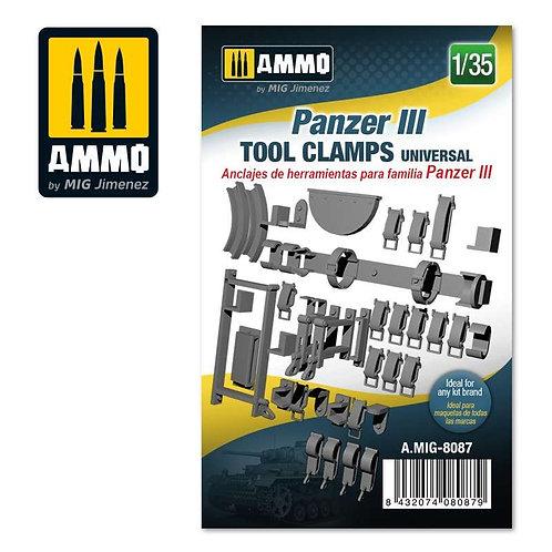 Panzer III tool clamps universal