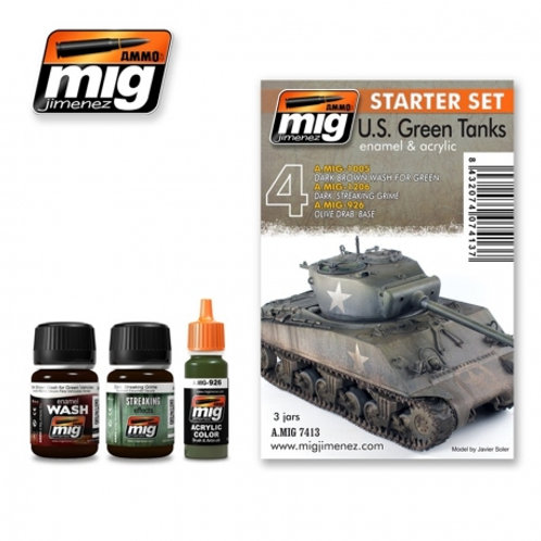 US Green tanks - starter set