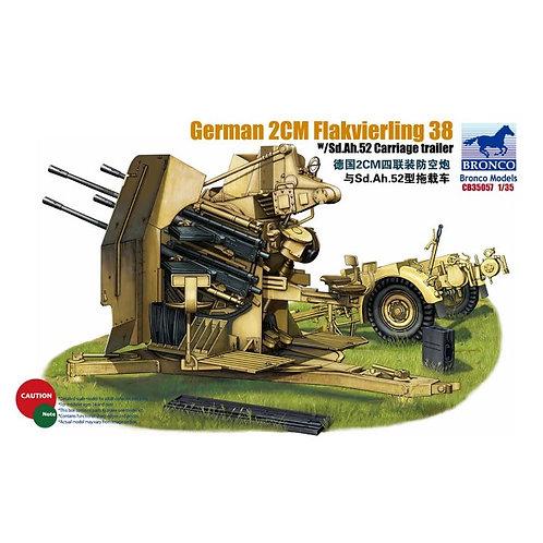 German 2cm flakvierling 38 w/trailer