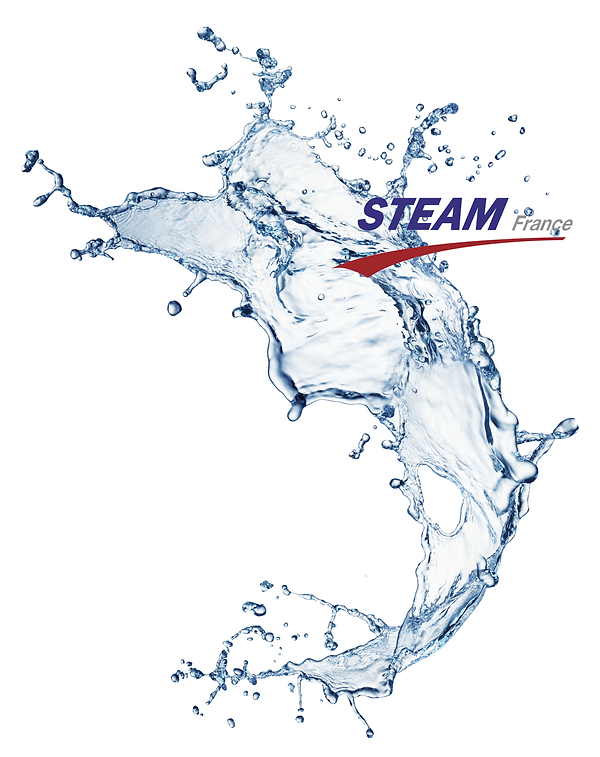 Vague d'eau explosion Logo STEAM France.