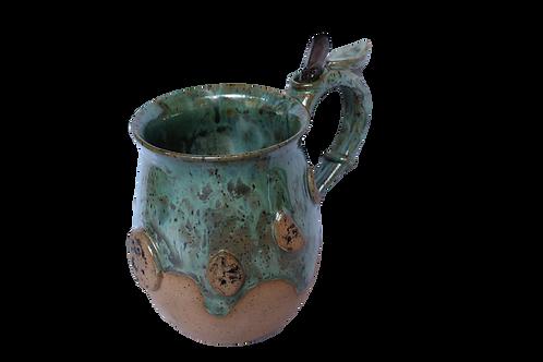 SmokyQuartz Dark Moon Mug in Sea Moss 24oz