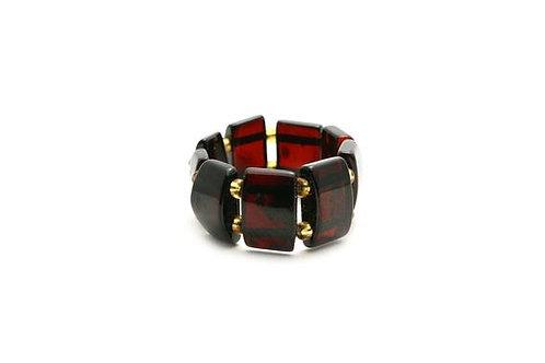 Baltic Amber Ring Dark Cherry