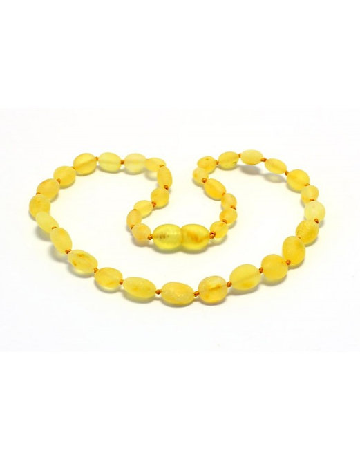 Baltic Amber Baby Teething Necklace Lemon 12""