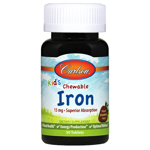 Carlson Kid's Chewable Iron 30 Tablets