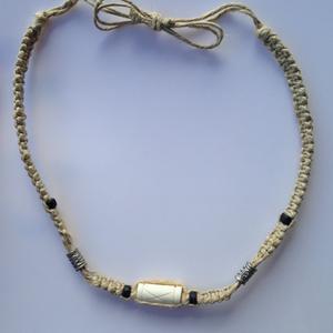 Hemp Beaded Necklace Adjustable