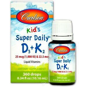 Carlson Kid's Super Daily D3 & K2 Liquid Vitamin Drops